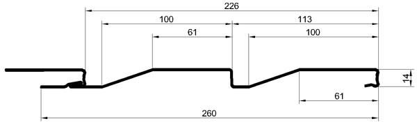 Металлический сайдинг МеталлПрофиль Корабельная доска - цена за м2/лист,  купить в Москве и Области - Формико
